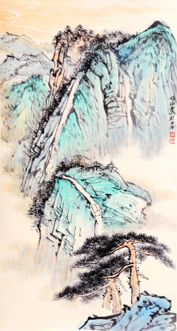 Attributed to He Haixia (Chinese Scroll Painting)