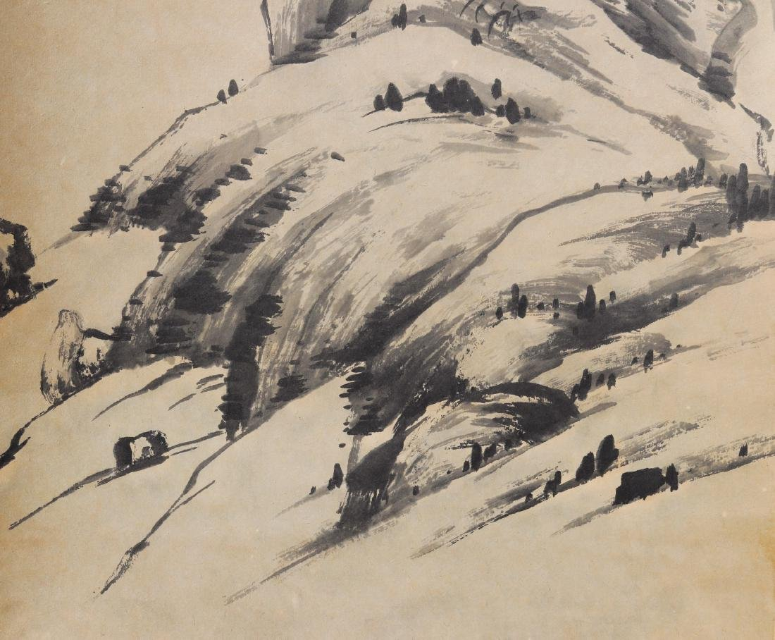 Attributed to Zhu Da (Chinese Scroll Painting) - 5