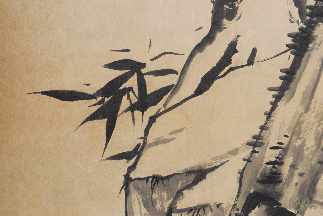 Attributed to Zhu Da (Chinese Scroll Painting) - 6