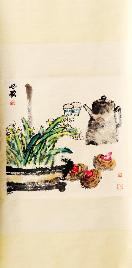 Attributed to Zhu QiZhan  (Chinese Scroll Painting)