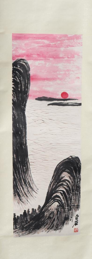 Attributed to Qi Baishi  (Chinese Scroll Painting)