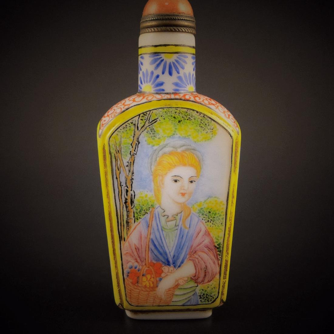 A Chinese Glassware Enamel Colors Snuff Bottle - 2