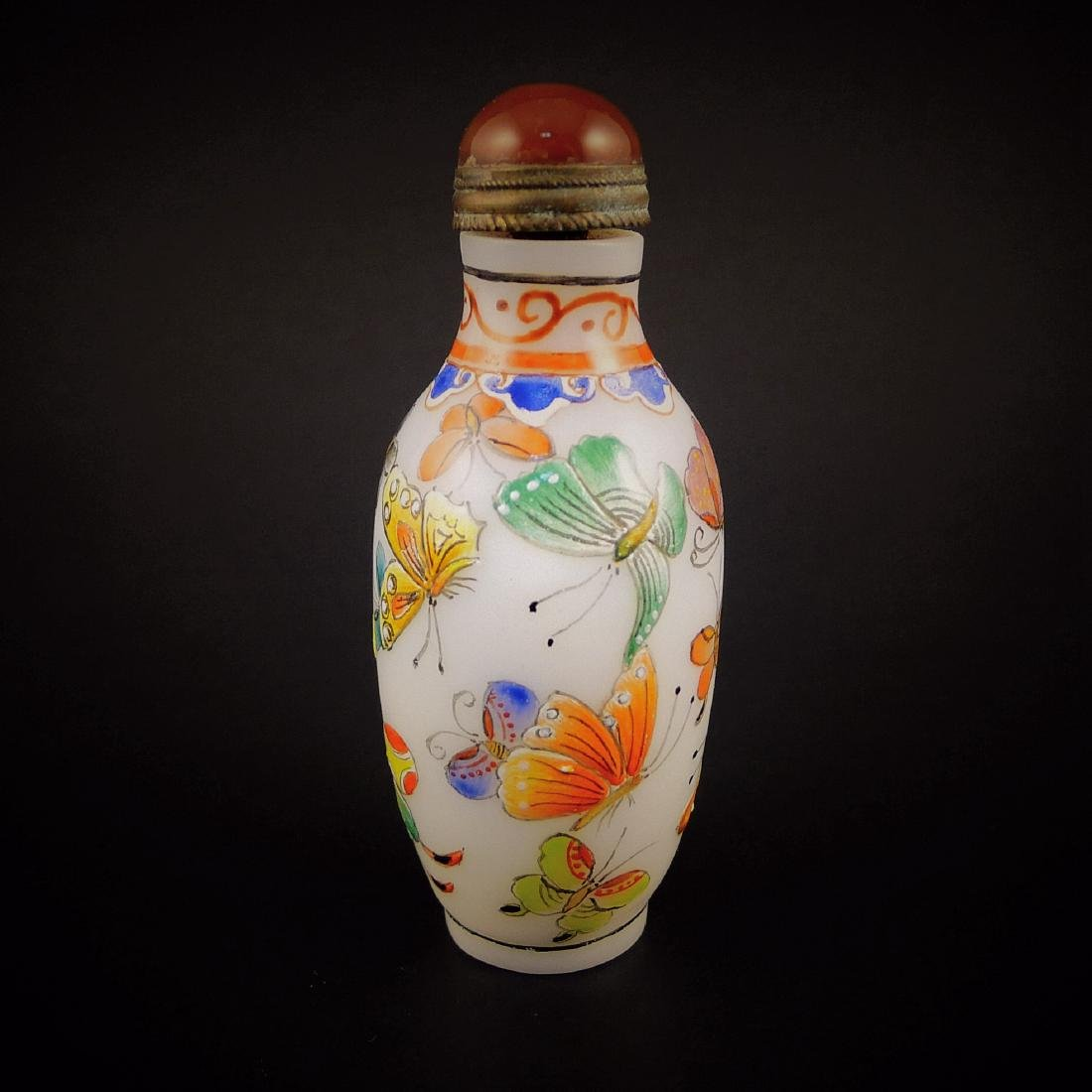 A Chinese Glassware Enamel Colors Snuff Bottle