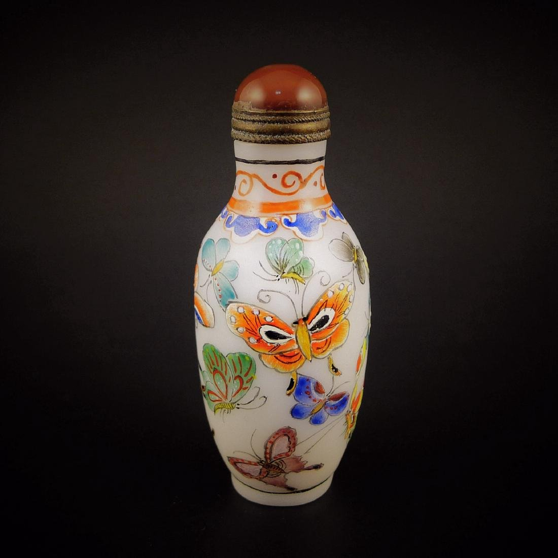 A Chinese Glassware Enamel Colors Snuff Bottle - 4