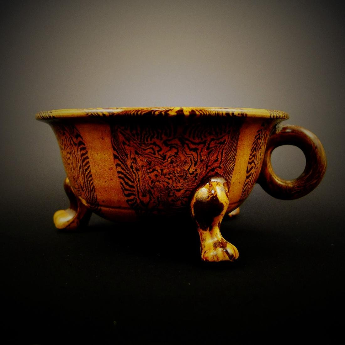 Late Tang Dynasty Yellow Glaze with Beast Foot Cup - 5