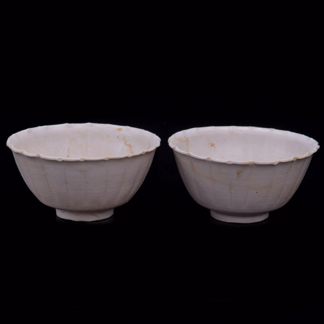 SONG DYNASTY, A PAIR OF DING KILN/WARE BOWLS