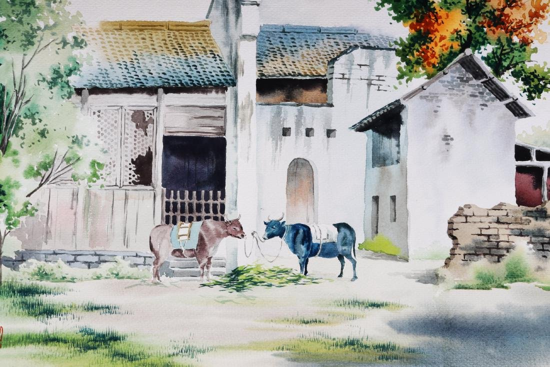 Attributed to Wu Guanzhong (watercolour painting ) - 2