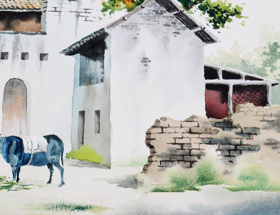 Attributed to Wu Guanzhong (watercolour painting ) - 6