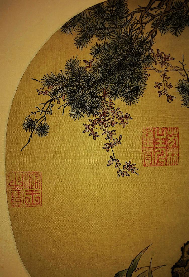 ANONYMOUS, CHINESE INK AND COLOR PAINTING ON SILK - 3