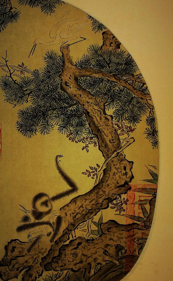 ANONYMOUS, CHINESE INK AND COLOR PAINTING ON SILK - 4