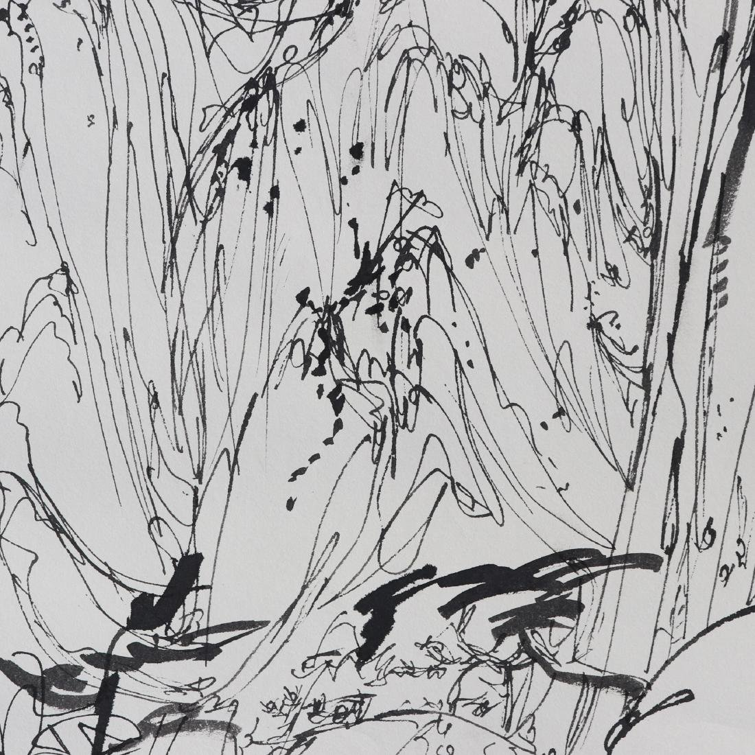 Attributed to Wu Guanzhong (Chinese  Pen painting) - 5