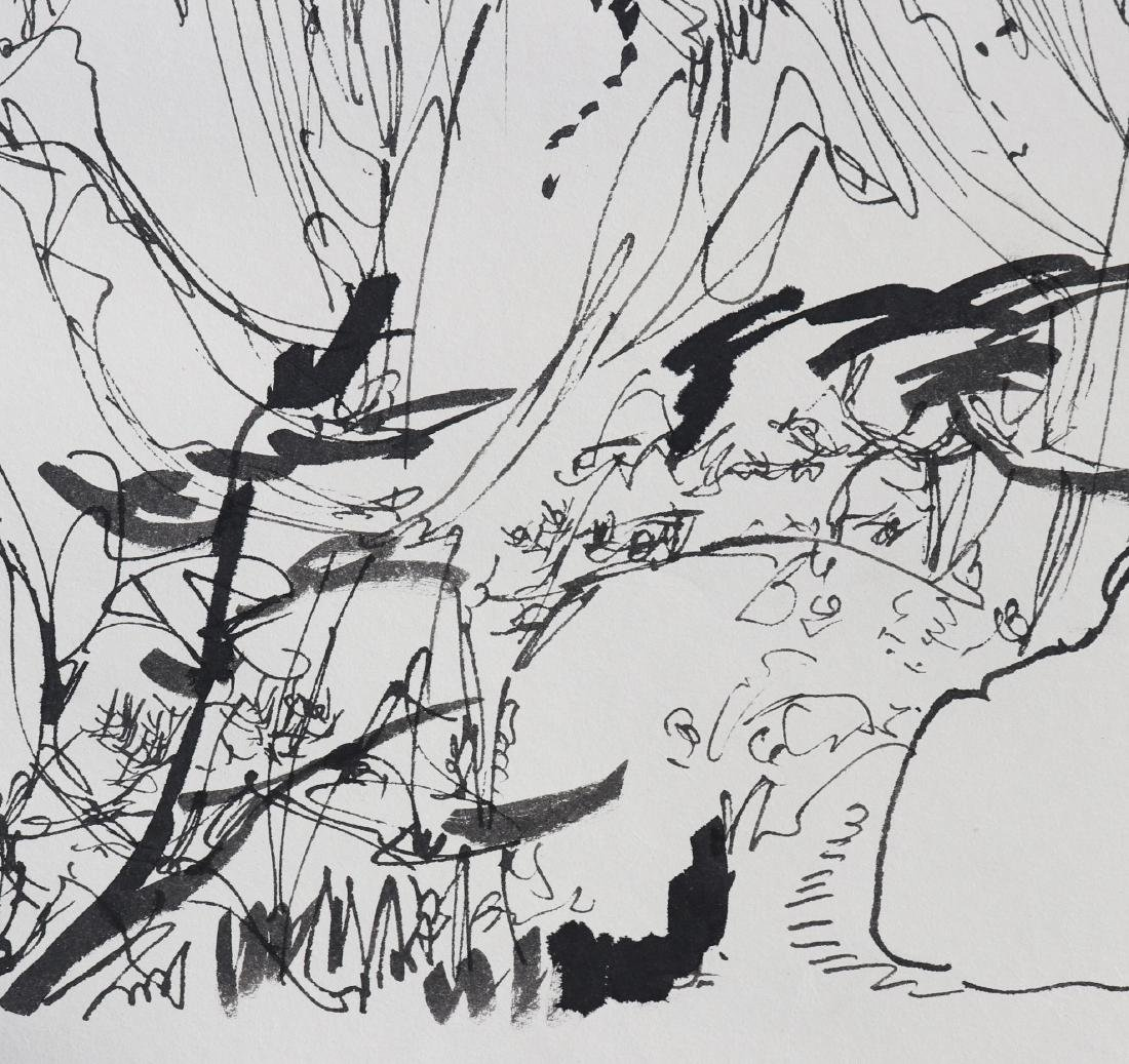 Attributed to Wu Guanzhong (Chinese  Pen painting) - 7