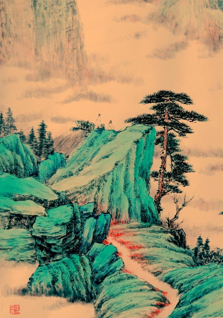 Attributed to Zhang Daqian (Chinese Scroll Painting) - 10