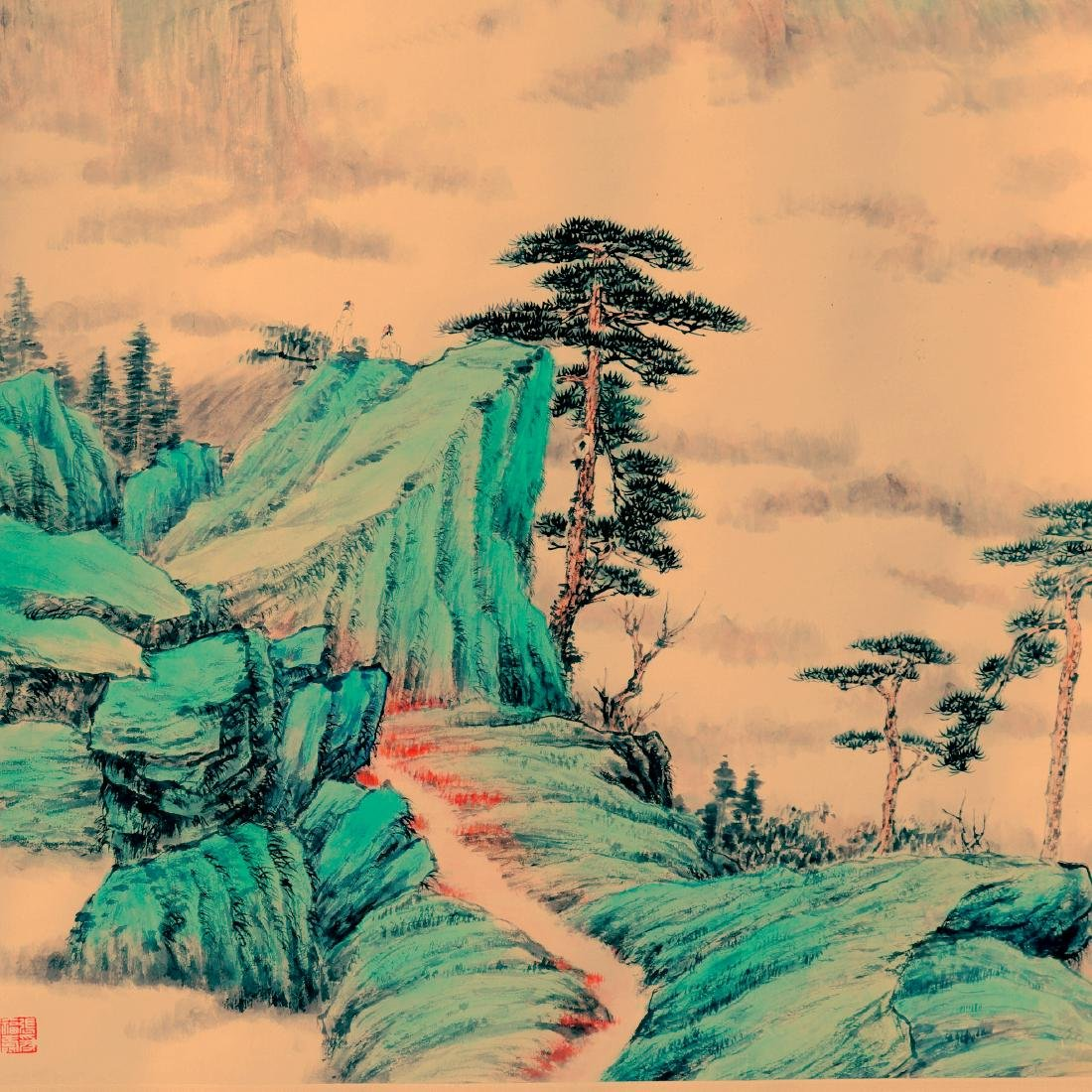 Attributed to Zhang Daqian (Chinese Scroll Painting)