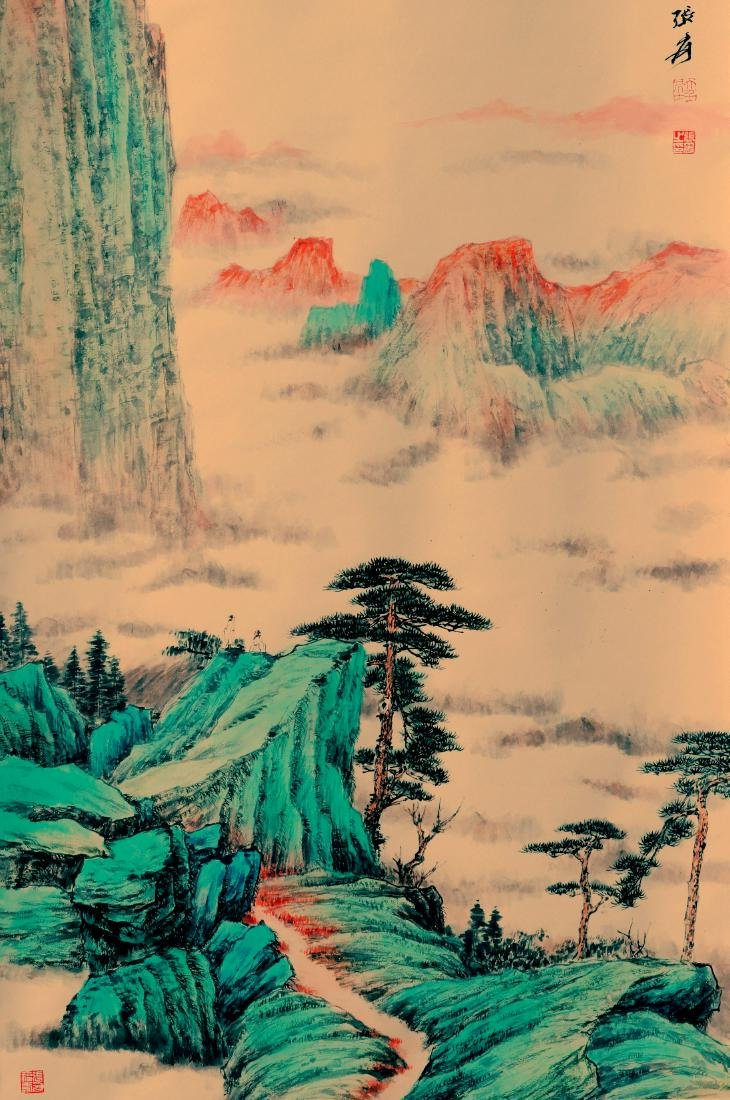 Attributed to Zhang Daqian (Chinese Scroll Painting) - 6