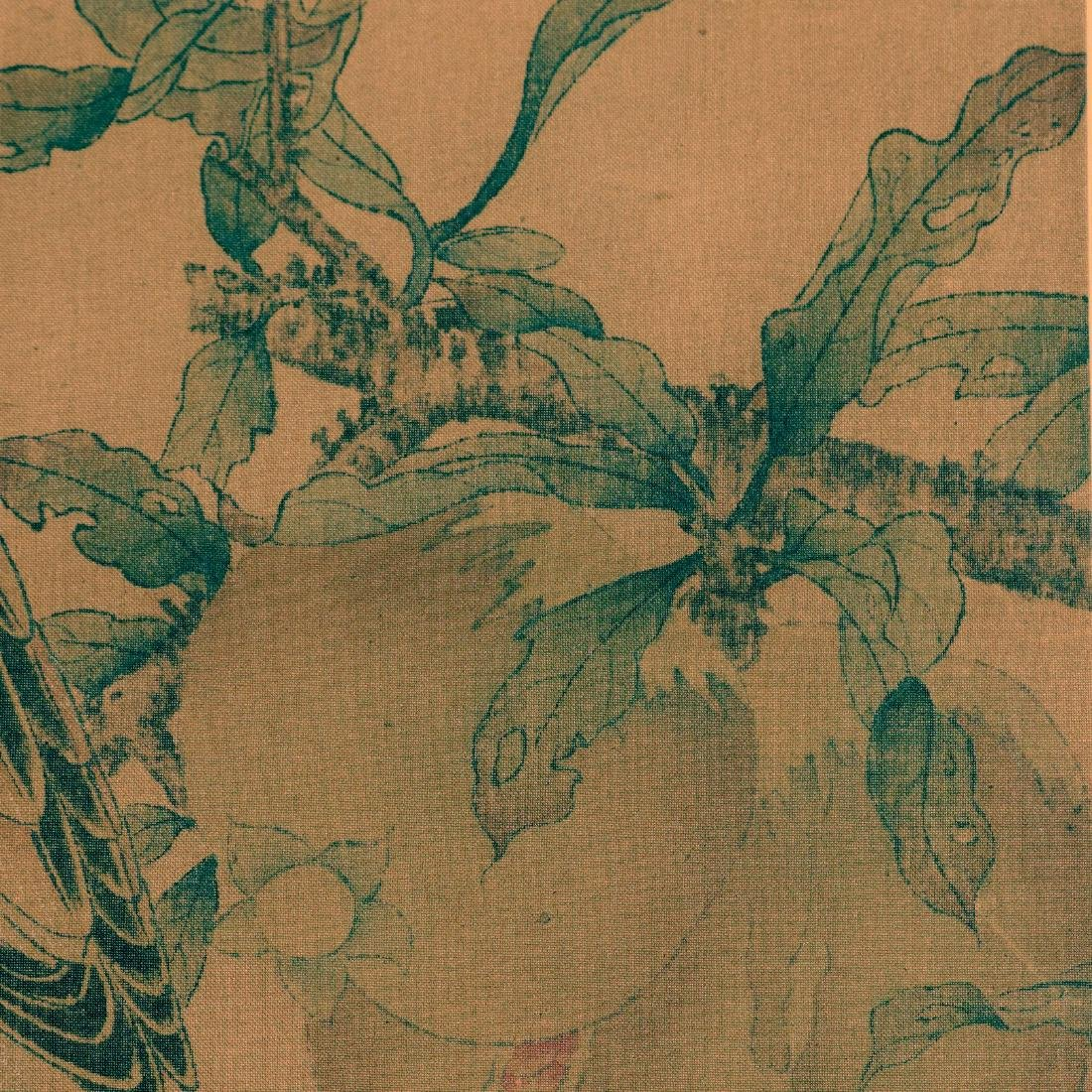 Antique Chinese ink and color painting on silk - 4