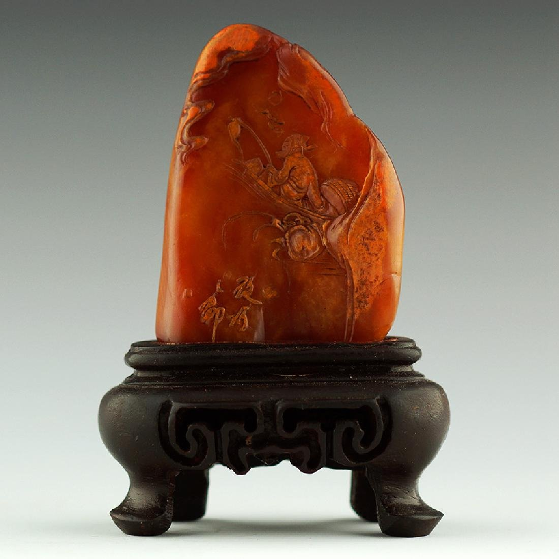 A Chinese Carved Shoushan Stone
