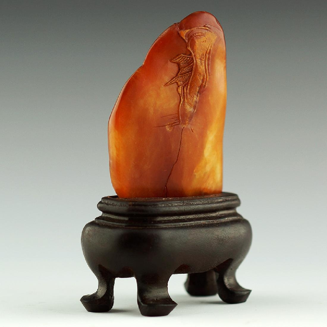 A Chinese Carved Shoushan Stone - 3