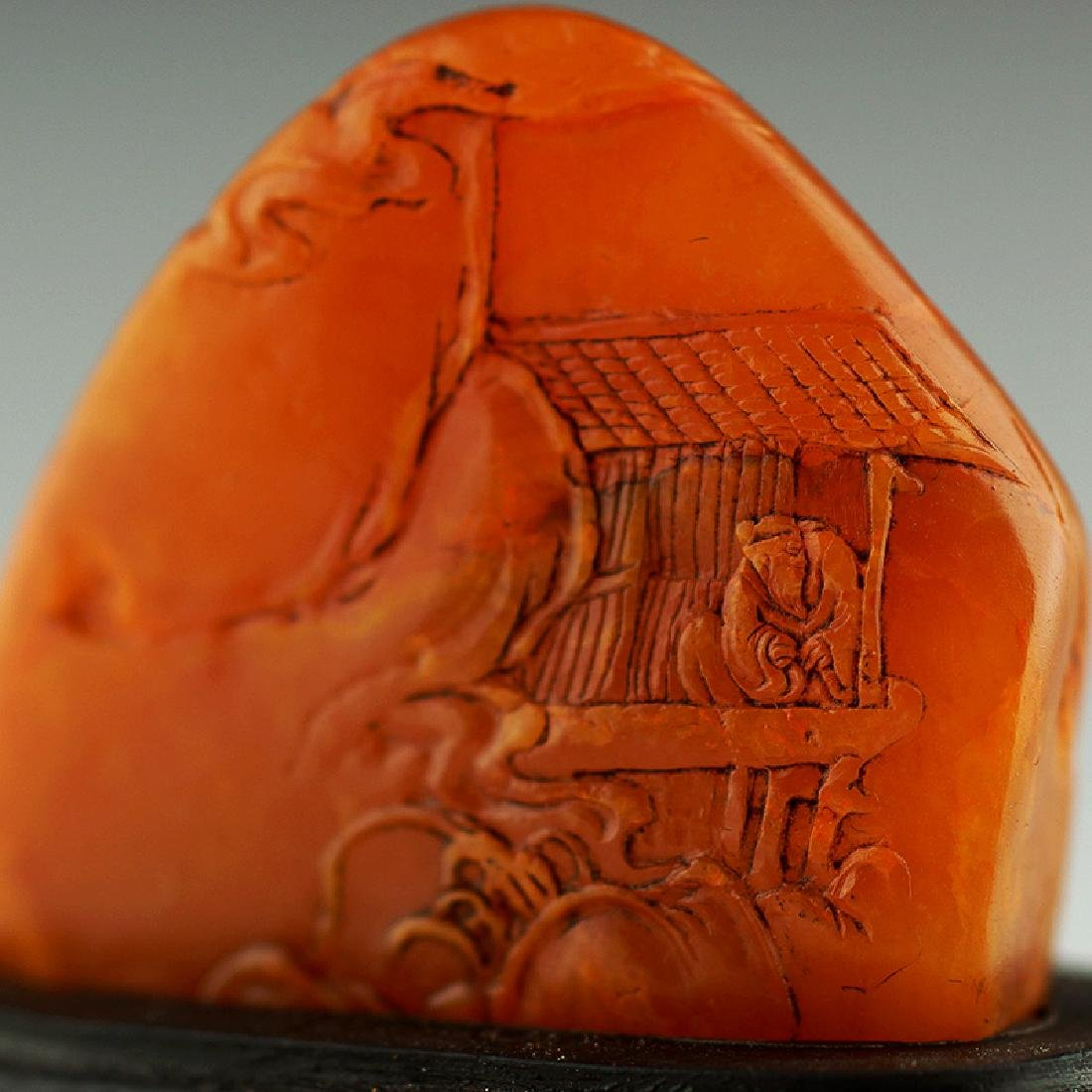 A Chinese Carved Shoushan Stone - 5