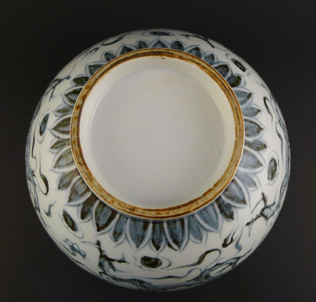 A CHINESE BLUE AND WHITE 'DRAGON' PORCELAIN BOWL - 4