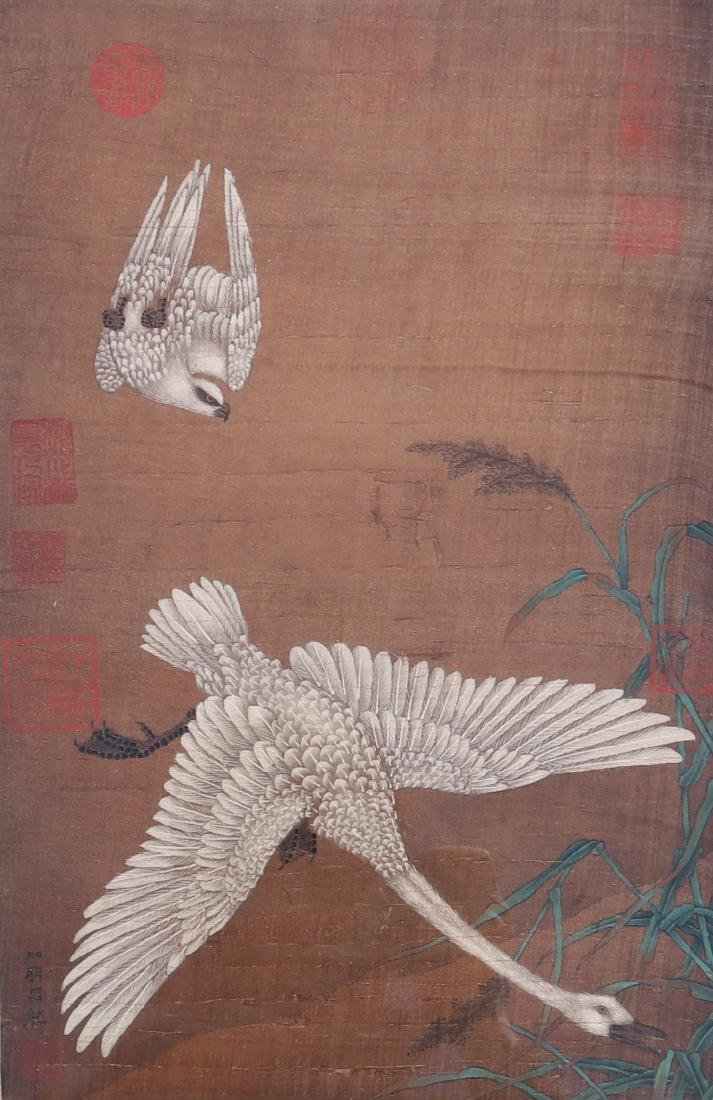Attributed to Lv Ji (Chinese Silk Painting) - 3