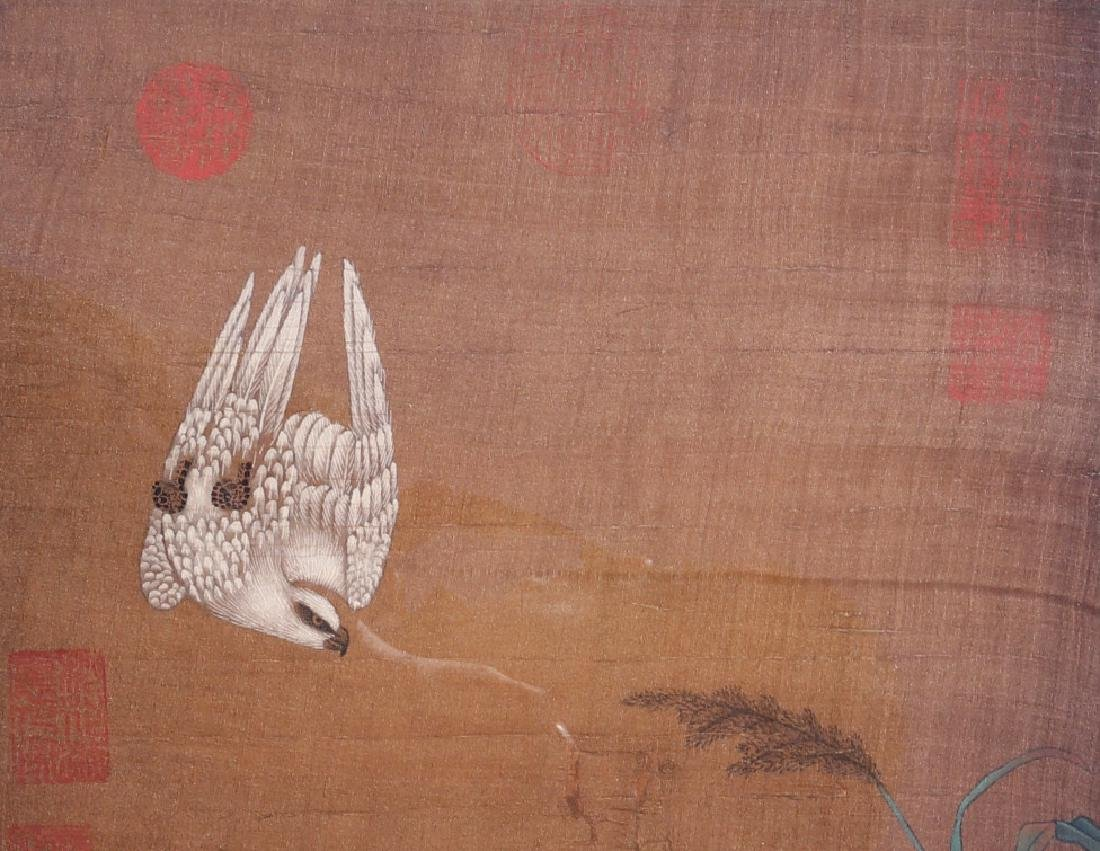 Attributed to Lv Ji (Chinese Silk Painting) - 4