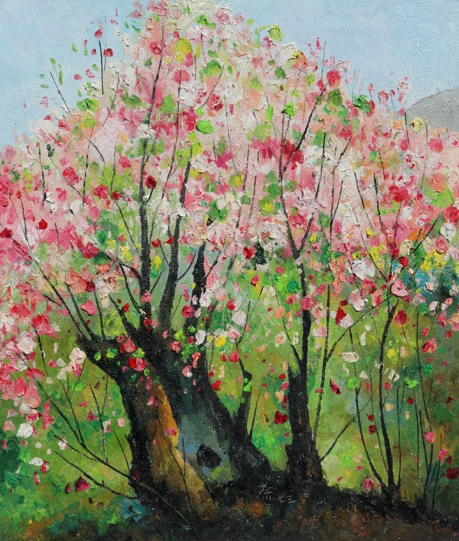 Attributed to Wu Guanzhong (Chinese Oil Painting) - 2