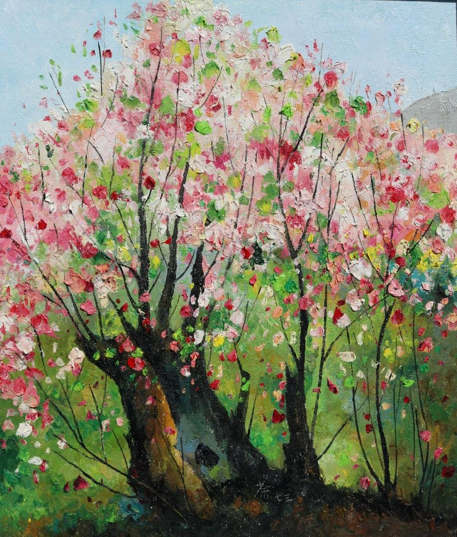 Attributed to Wu Guanzhong (Chinese Oil Painting) - 3