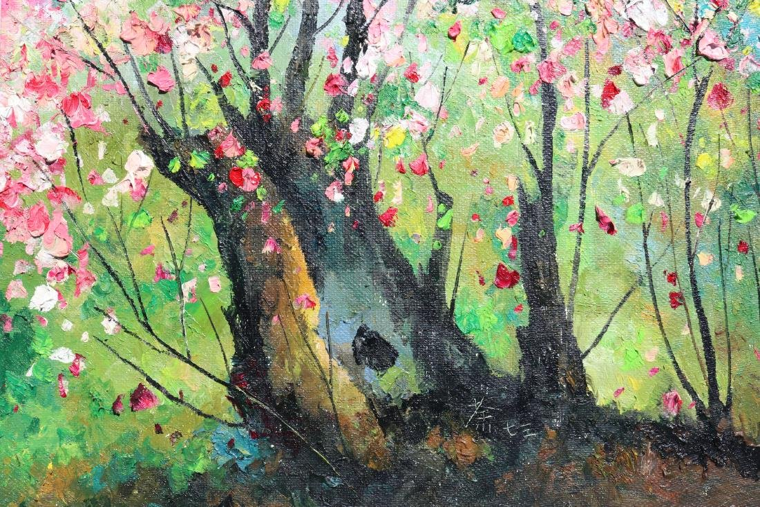 Attributed to Wu Guanzhong (Chinese Oil Painting) - 9