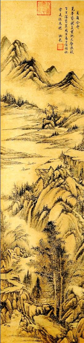 ATTRIBUTED TO QIANLONG (Chinese Scroll Painting)