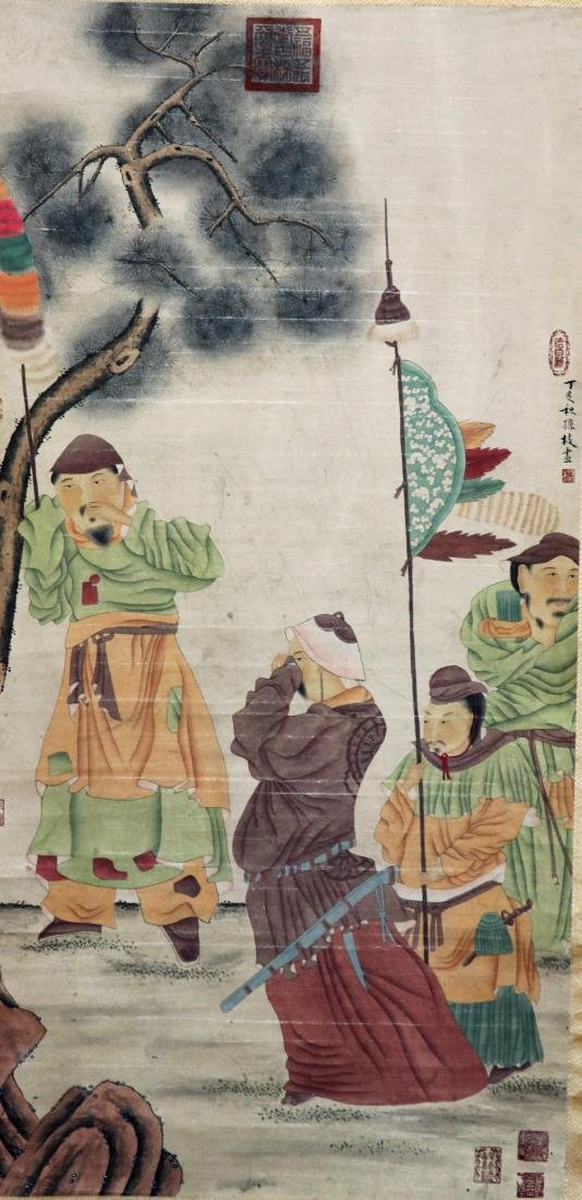 Vintage Chinese Scroll Painting - 10