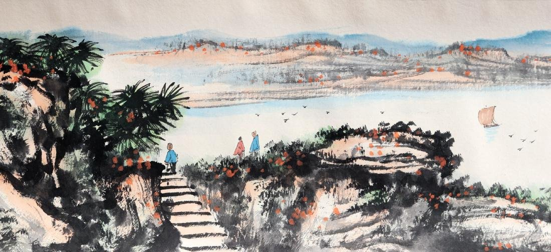 Attributed to Guan Shanyue (Chinese Scroll Painting) - 4