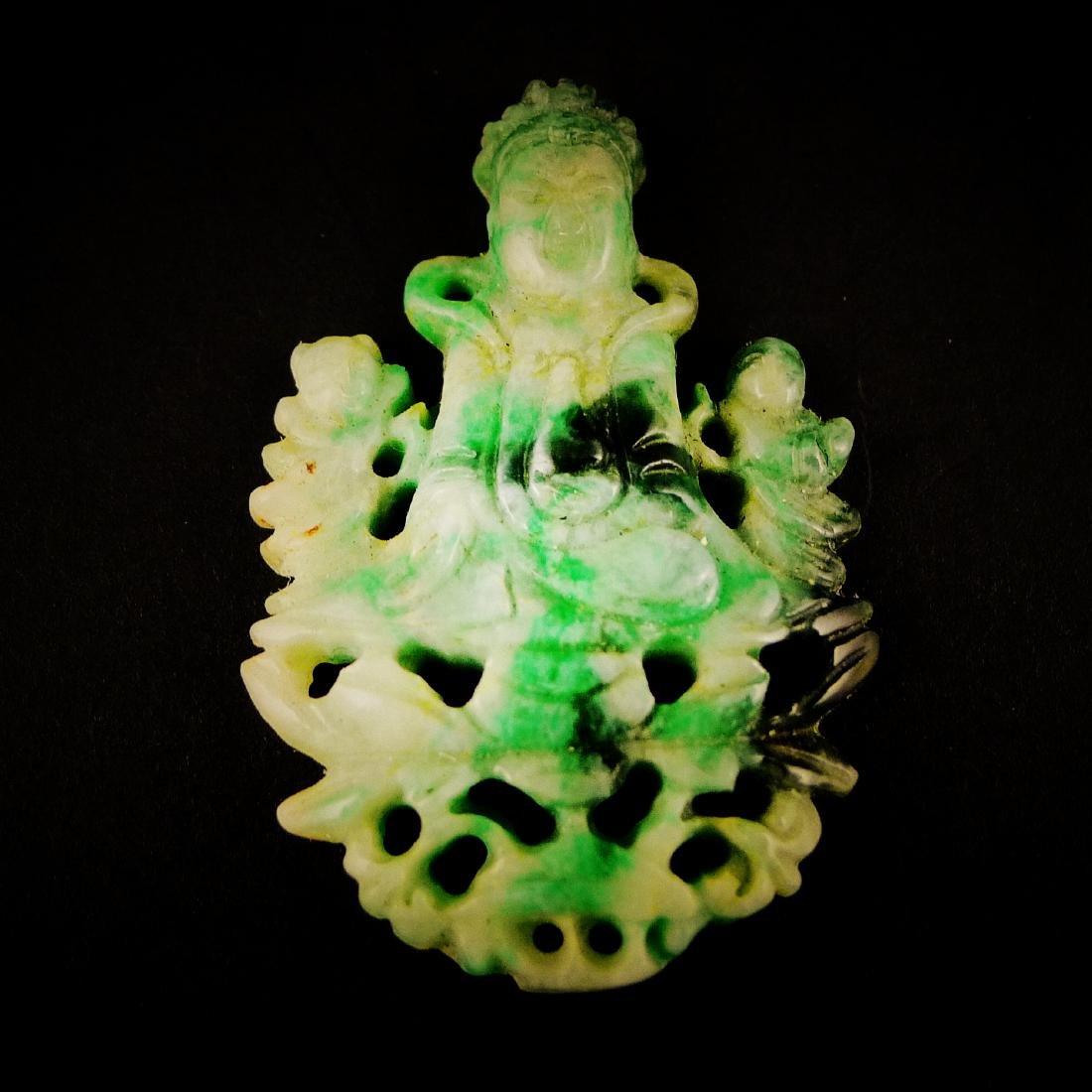 A Chinese emerald jade Buddha (A)