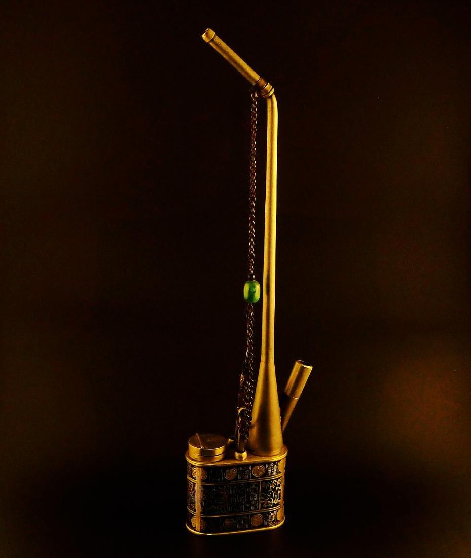 Antique Chinese Cloisonne Enamel Smoking Tobacco Water