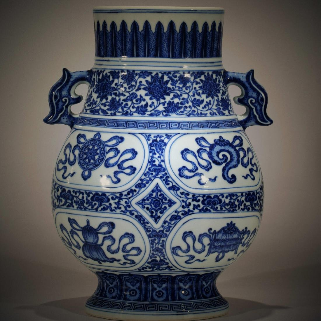 Chinese blue and white Double-ear Pot