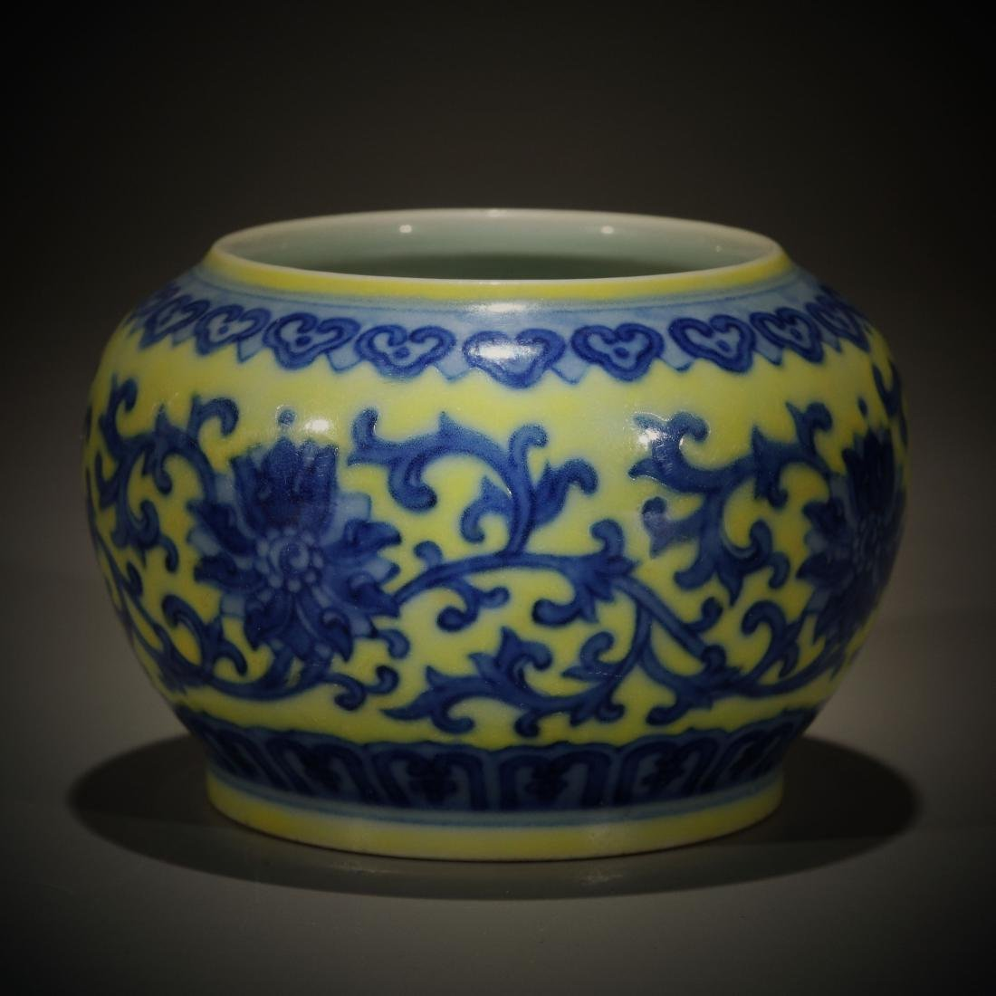 Antique Chinese blue and white porcelain water contain