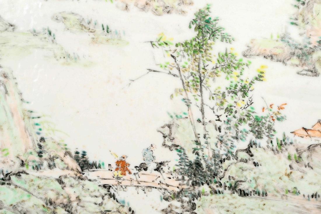 Chinese Famille  rose porcelain landscape Vitrolite - 4