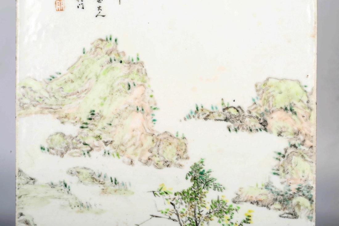 Chinese Famille  rose porcelain landscape Vitrolite - 6