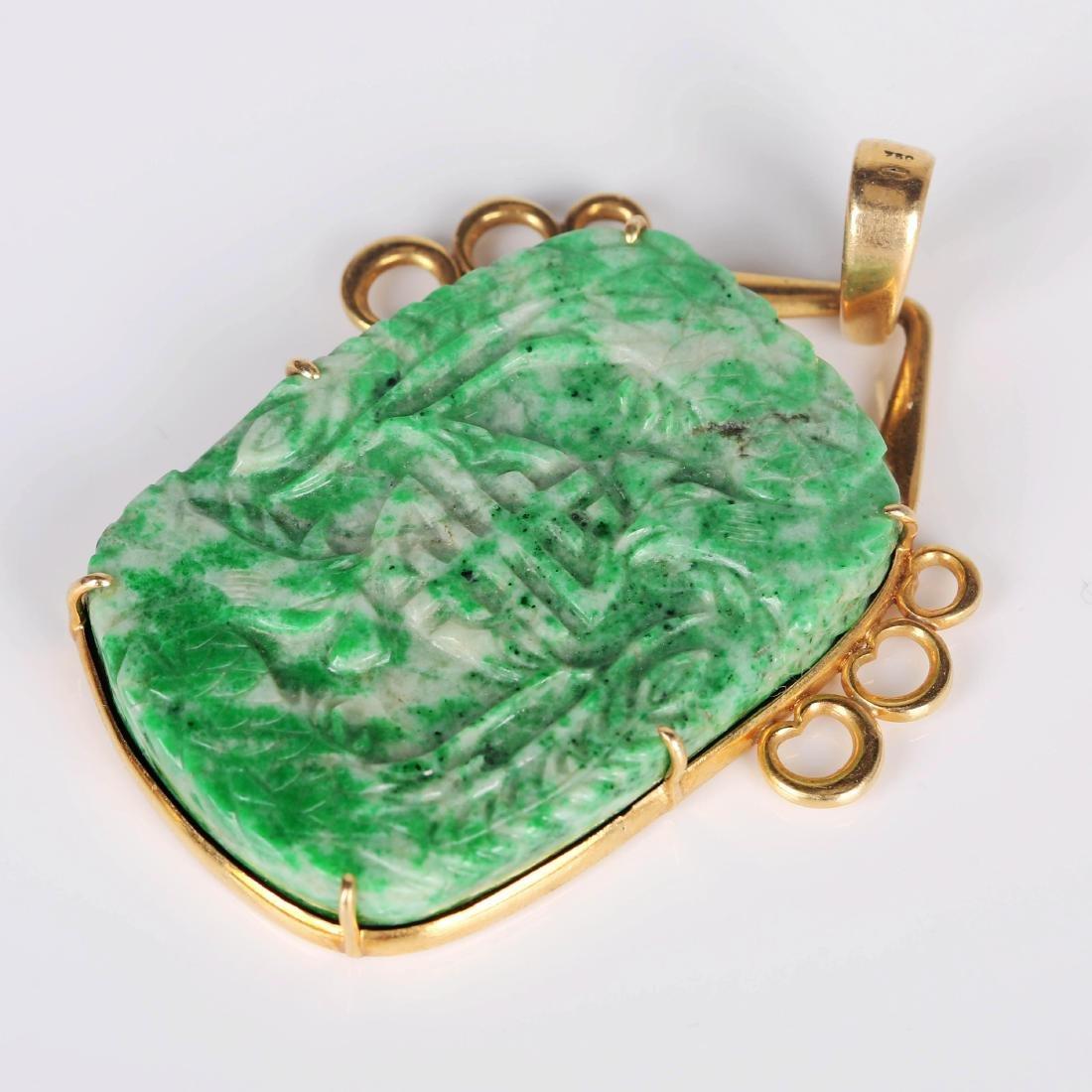 Chinese emerald pendant