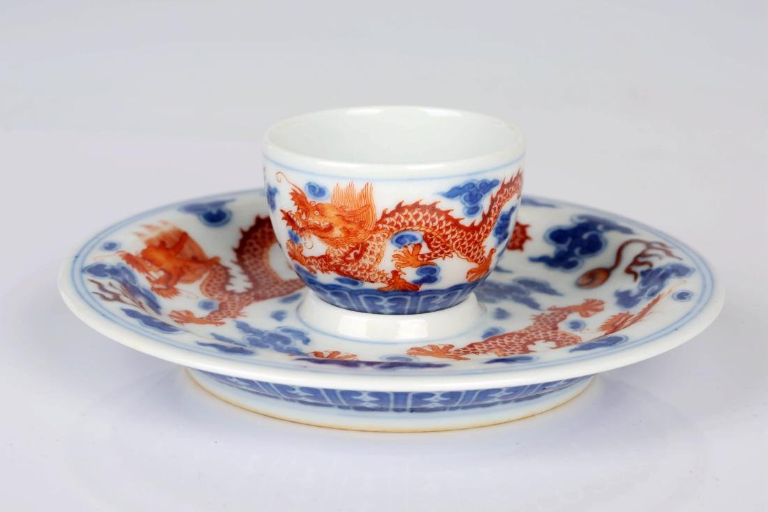 Chinese blue and white porcelain tea set