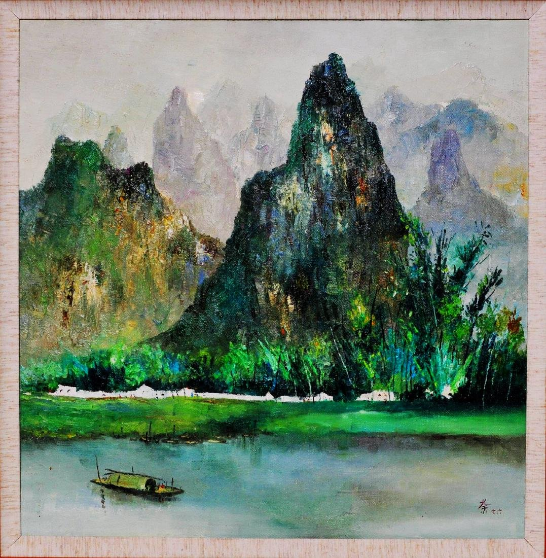 Attributed to Wu Guanzhong (OIL PAINTING)