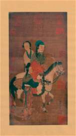 Attributed to Zhao Menghu ( Chinese silk painting )