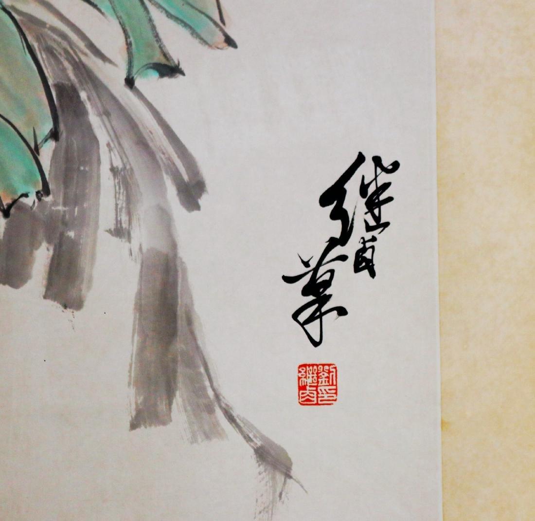 Chinese Scroll Painting ( Liu Ji Lu signed) - 4