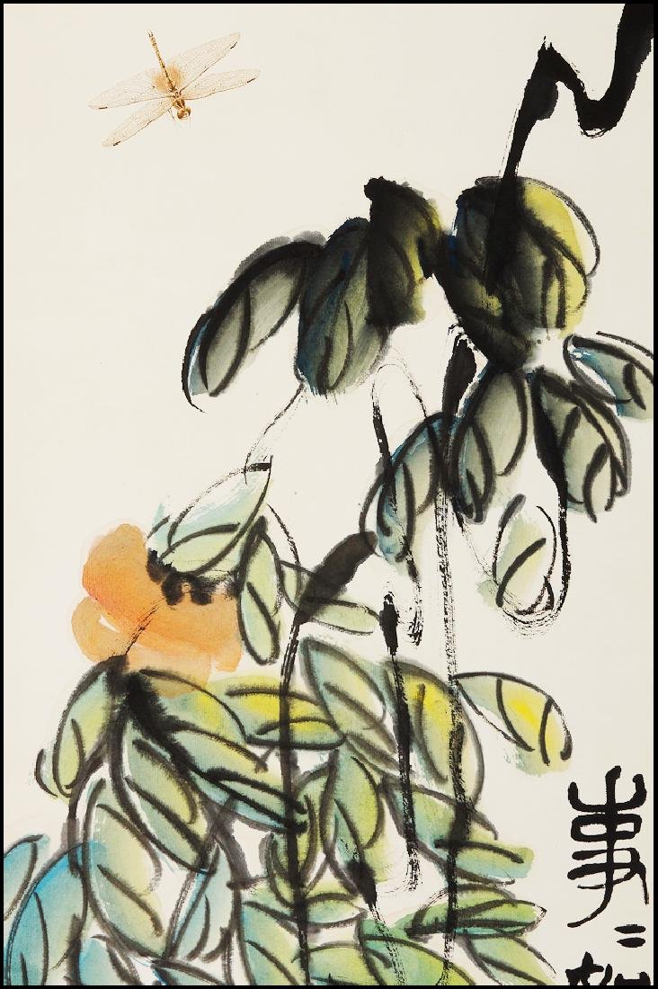 Attributed to Qi  BaiShi  (CHINESE SCROLL PAINTING) - 2