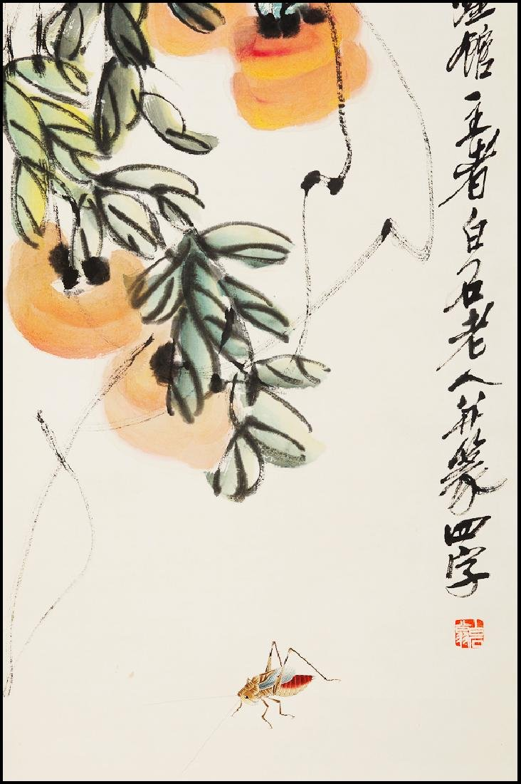 Attributed to Qi  BaiShi  (CHINESE SCROLL PAINTING) - 3