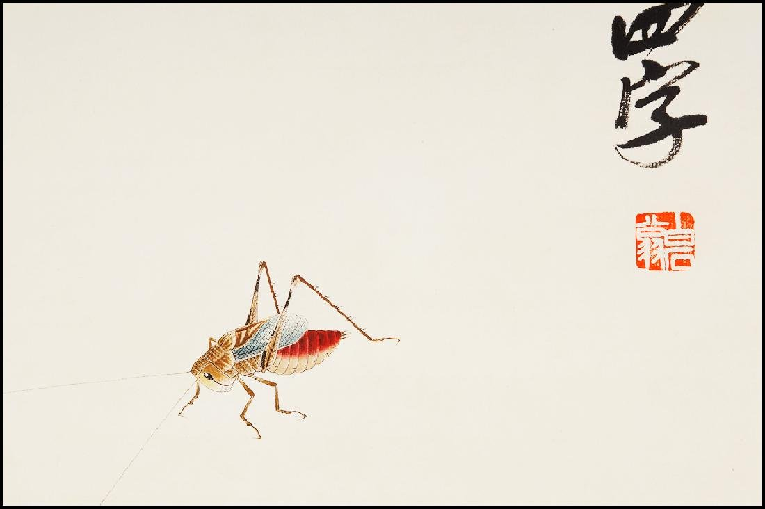 Attributed to Qi  BaiShi  (CHINESE SCROLL PAINTING) - 4