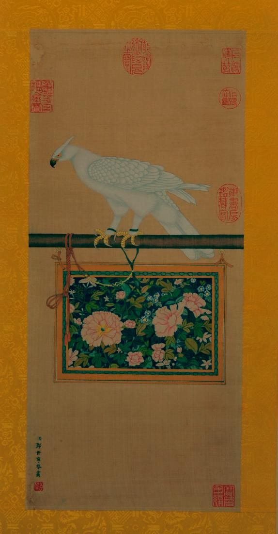 Attributed to Lang Shining ( PAINTING ON SILK)