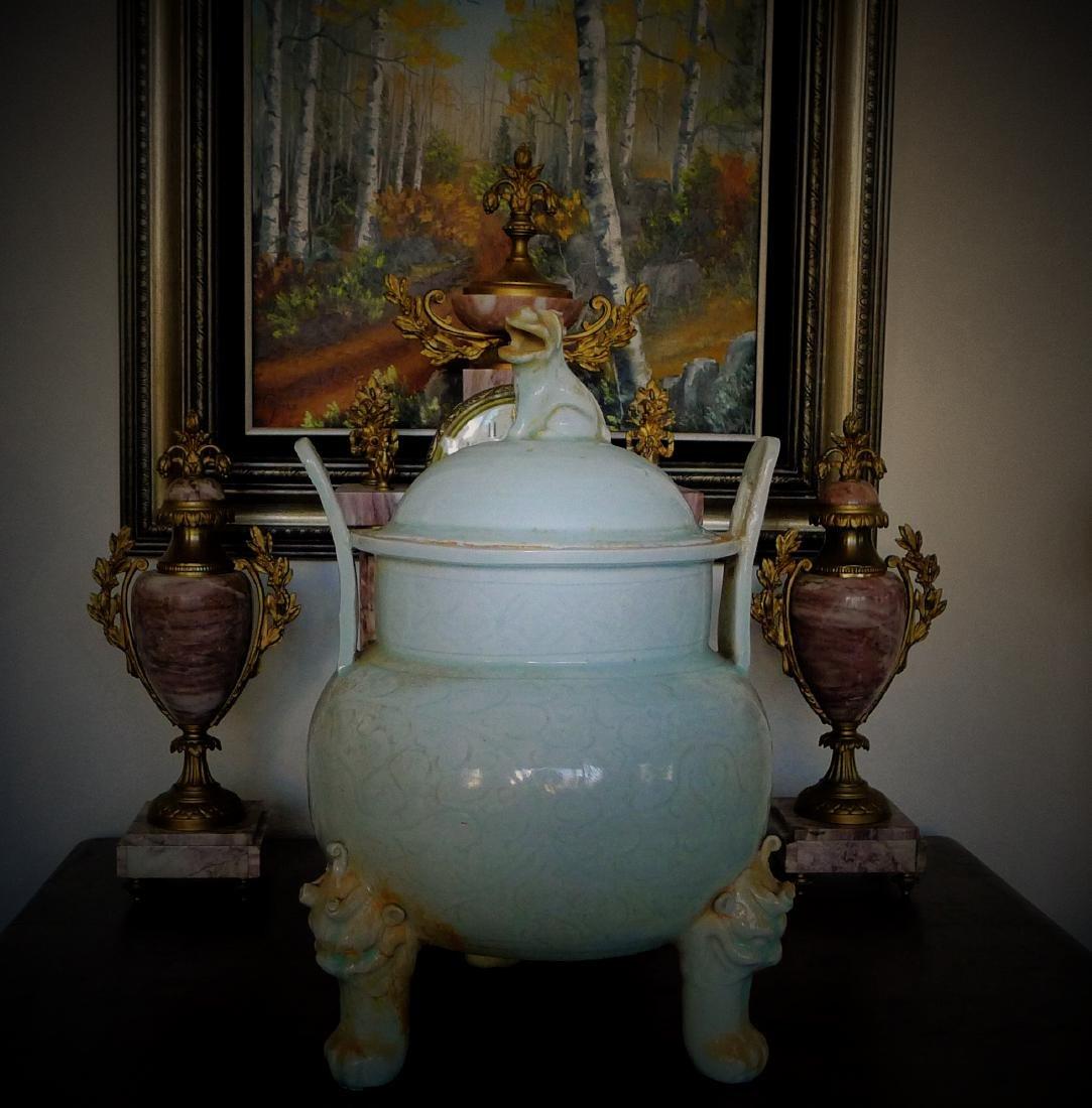 Song Dynasty Hutian Kiln Porcelain Incense Burner