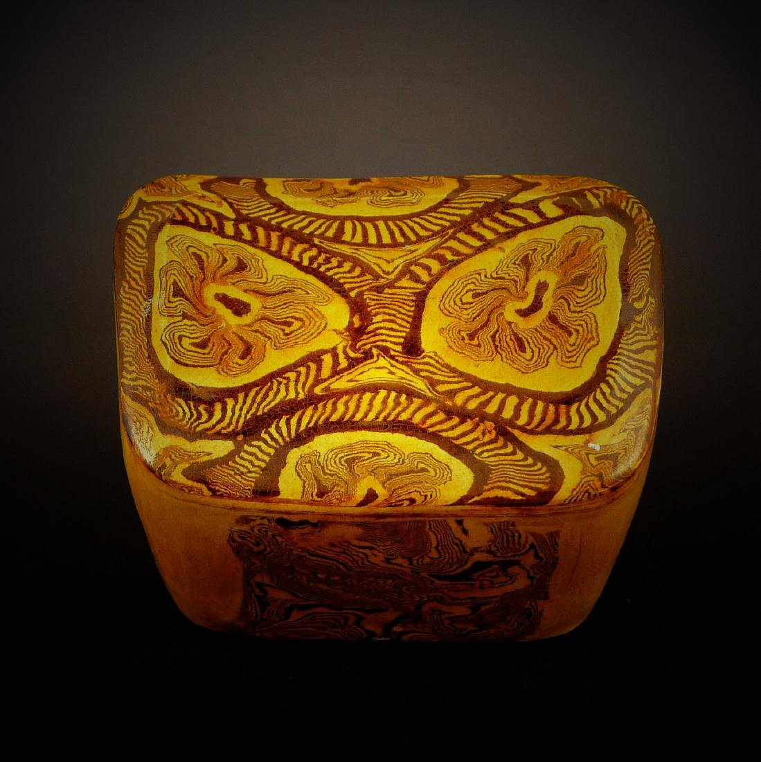 Tang Dynasty yellow glaze porcelain Headrest