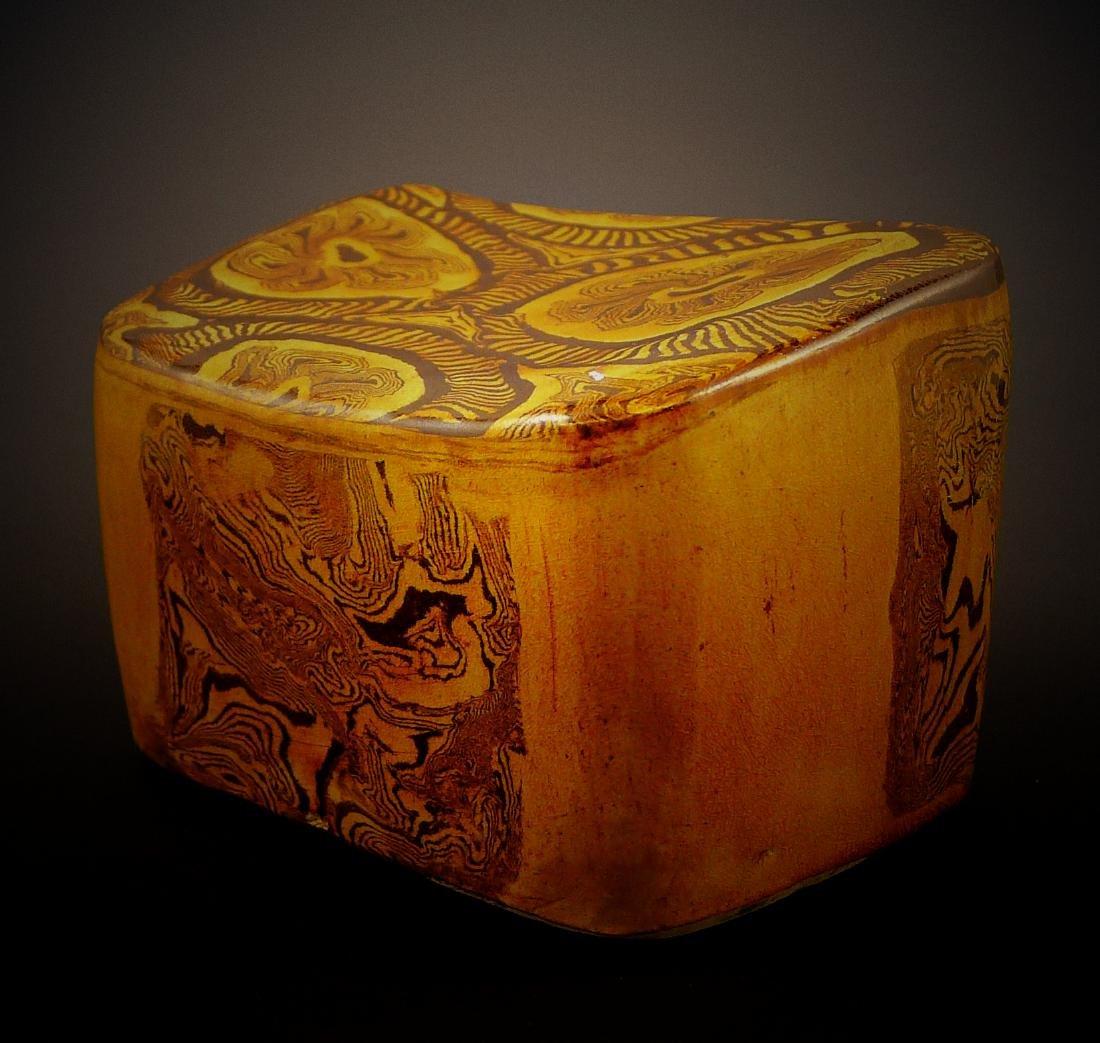 Tang Dynasty yellow glaze porcelain Headrest - 2